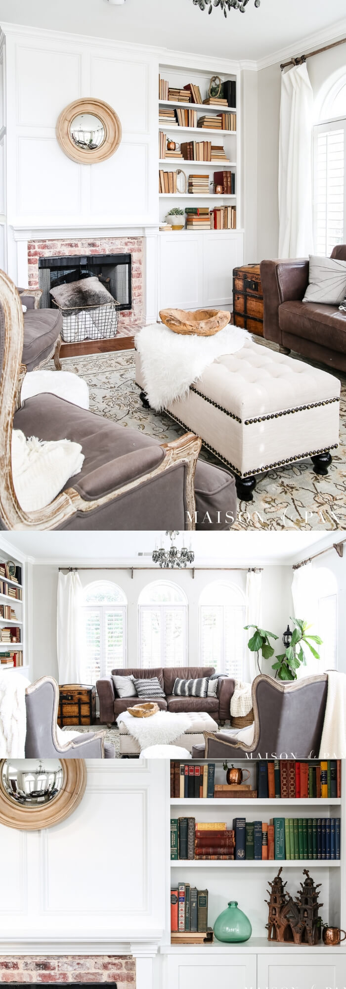 Transitioning from winter whites to neutrals, blues, and greens   Spring Spruce-Up - Quick, Cheap Home Décor Ideas   FarmFoodFamily.com