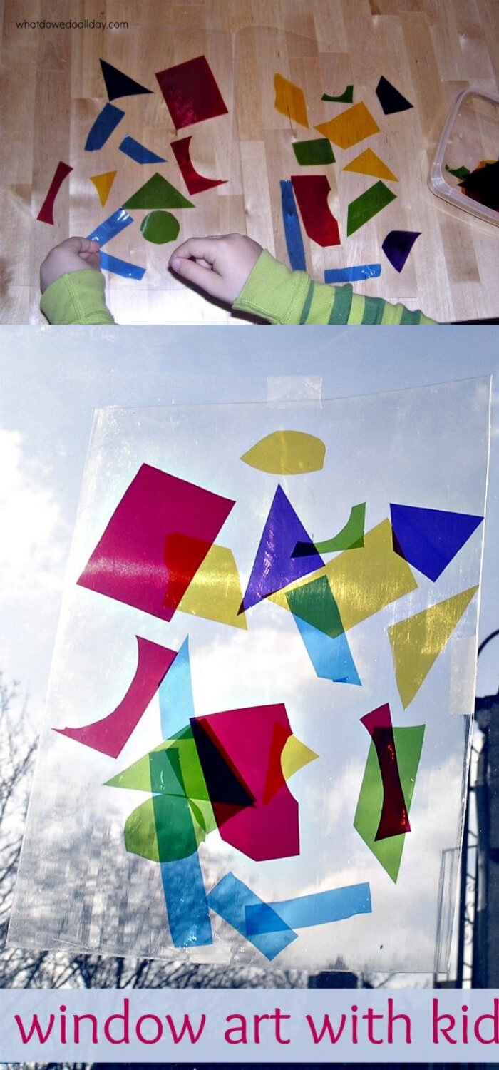Children's Holiday Craft Ideas – Faux Stained Glass Valentine's Day Window Hangings | Super Easy Stained Glass Art Project