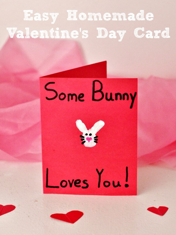 Ideas for Kids' Craft Projects – Homemade Valentine's Day Cards | Some bunny love you
