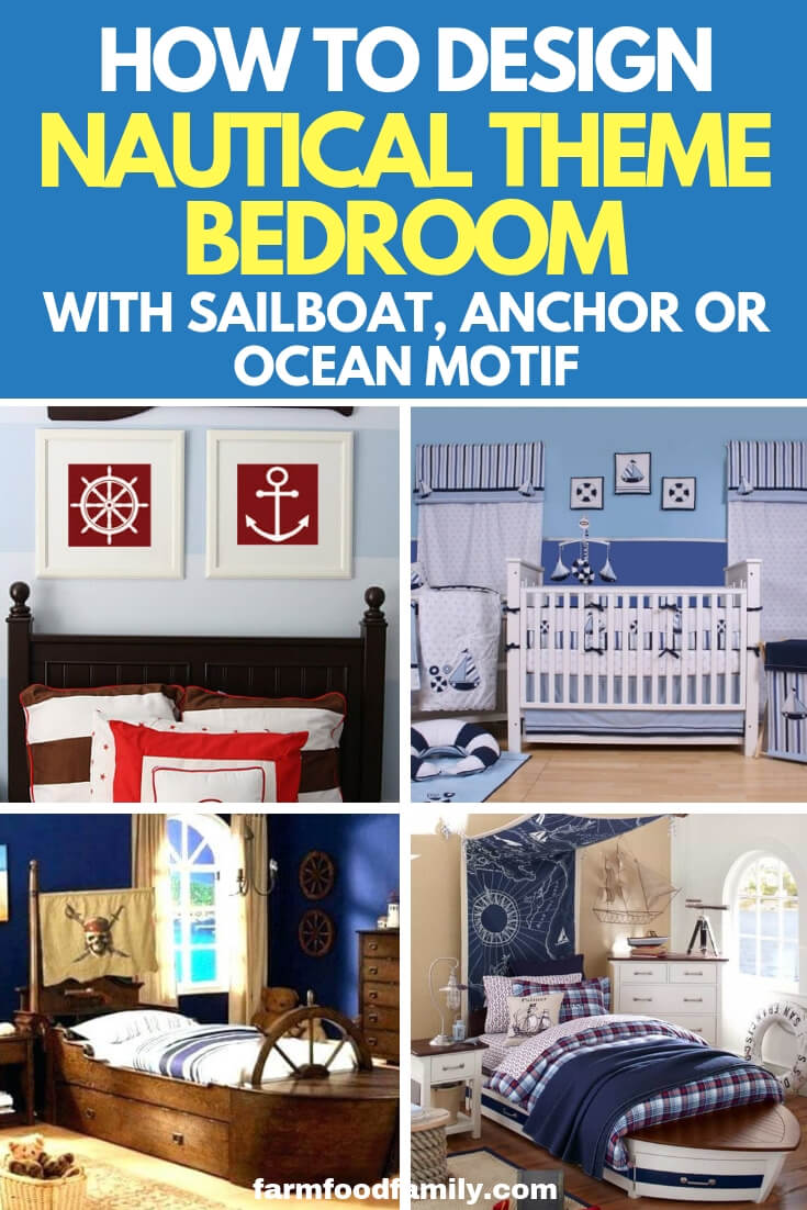 How to Decorate a Nautical Theme Bedroom: Design a Nursery or Bedroom with Sailboat, Anchor or Ocean Motif