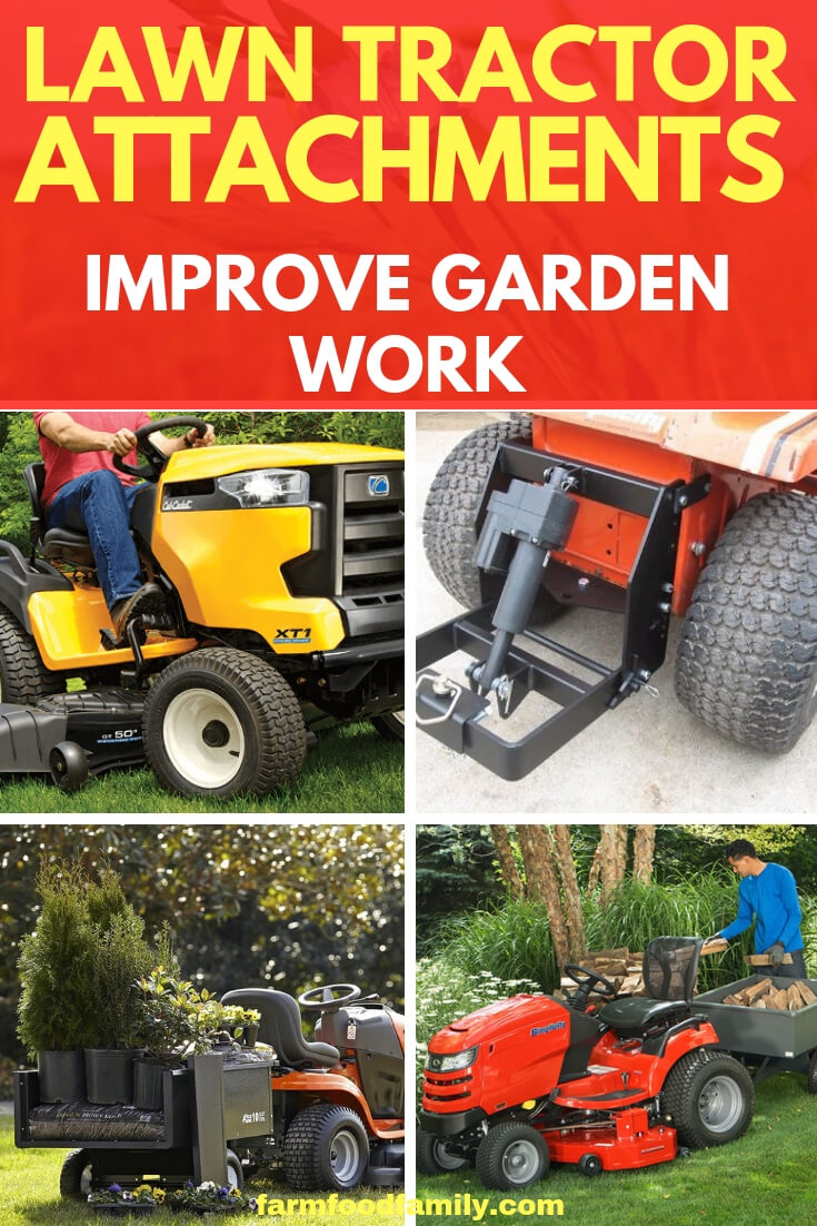 Lawn Tractor Attachments Improve Garden Work