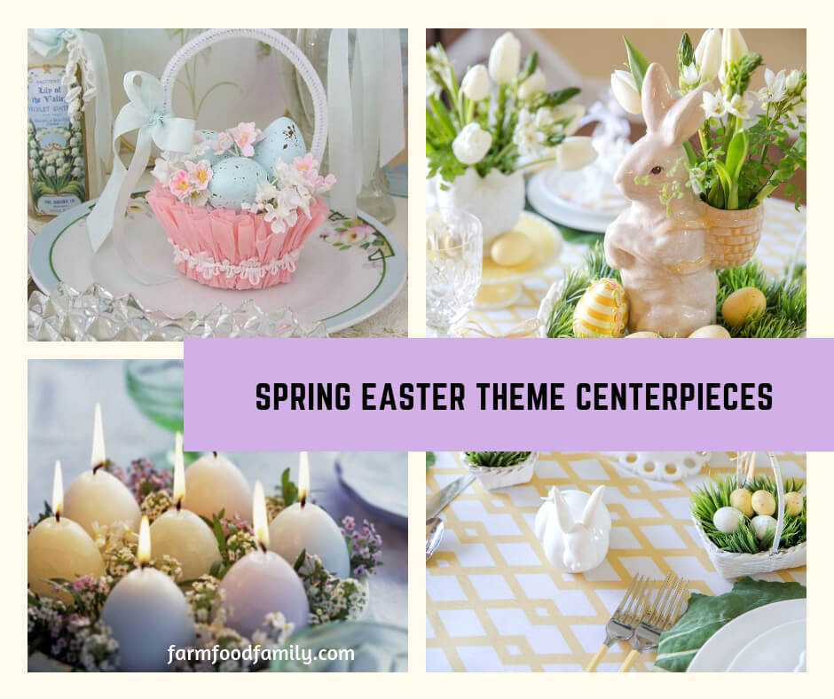 Spring Easter Theme Centerpieces: Floral and Traditional Easter Decorating Themes