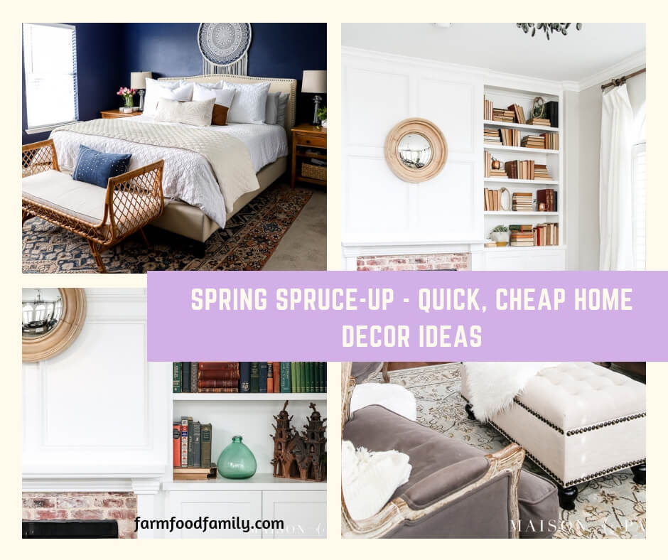 Spring Spruce-Up - Quick, Cheap Home Décor Ideas