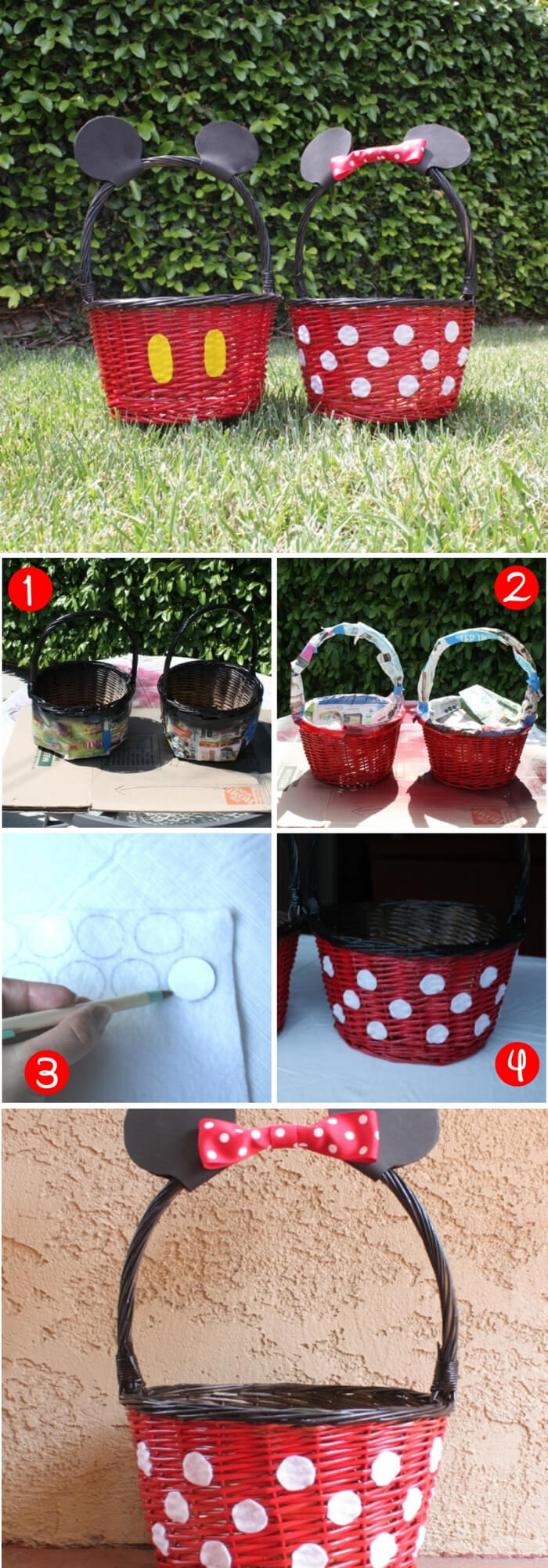 DIY Mickey and Minnie Easter Baskets | Fun & Creative Easter Basket Ideas
