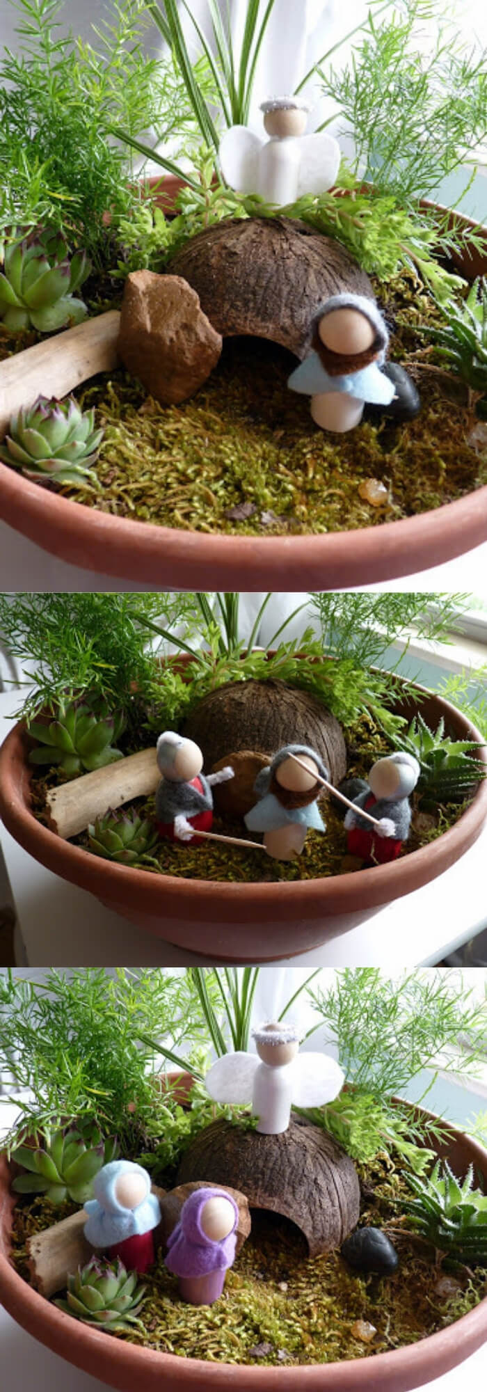 Jesus and the Angel standing by the empty tomb   Creative Easter Garden Projects & Ideas Your Kids Will Love