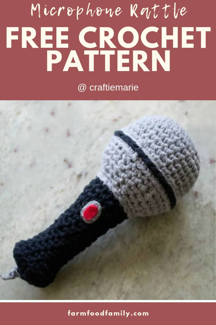 Microphone Rattle | Rattle Free Crochet Patterns For Baby
