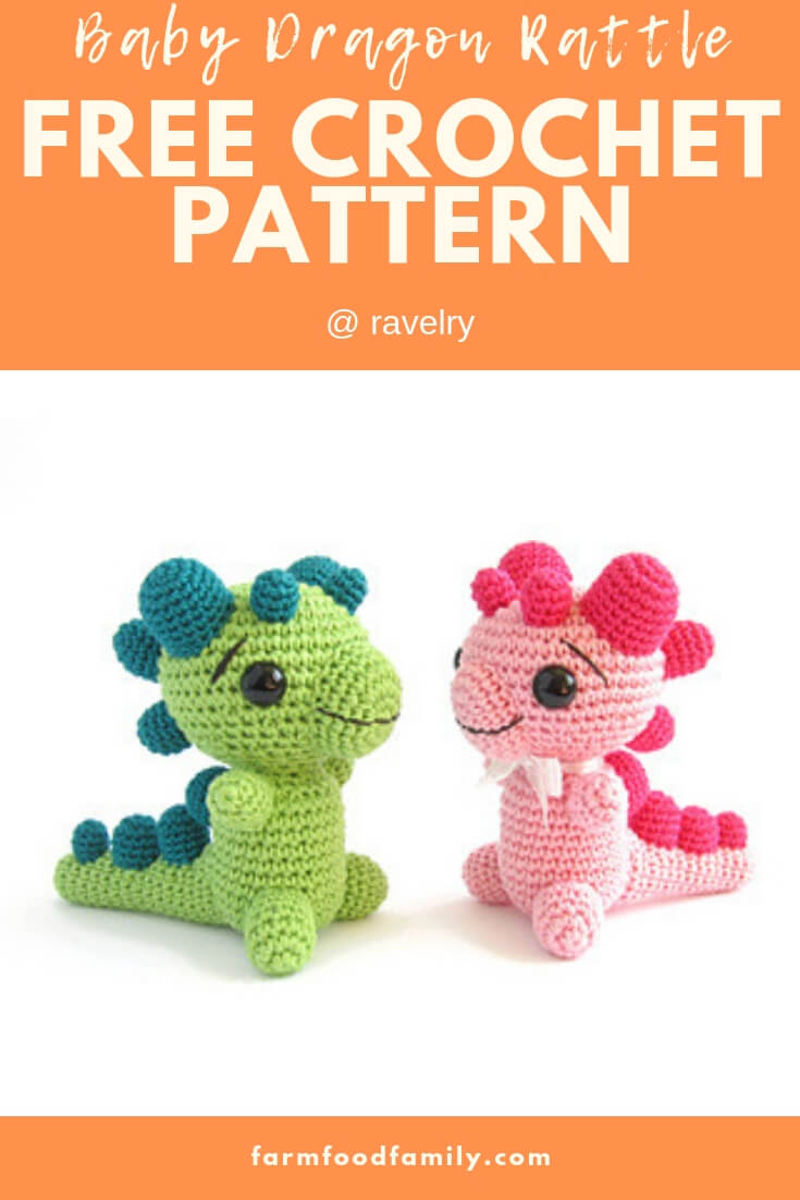 Baby Dragon | Rattle Free Crochet Patterns For Baby