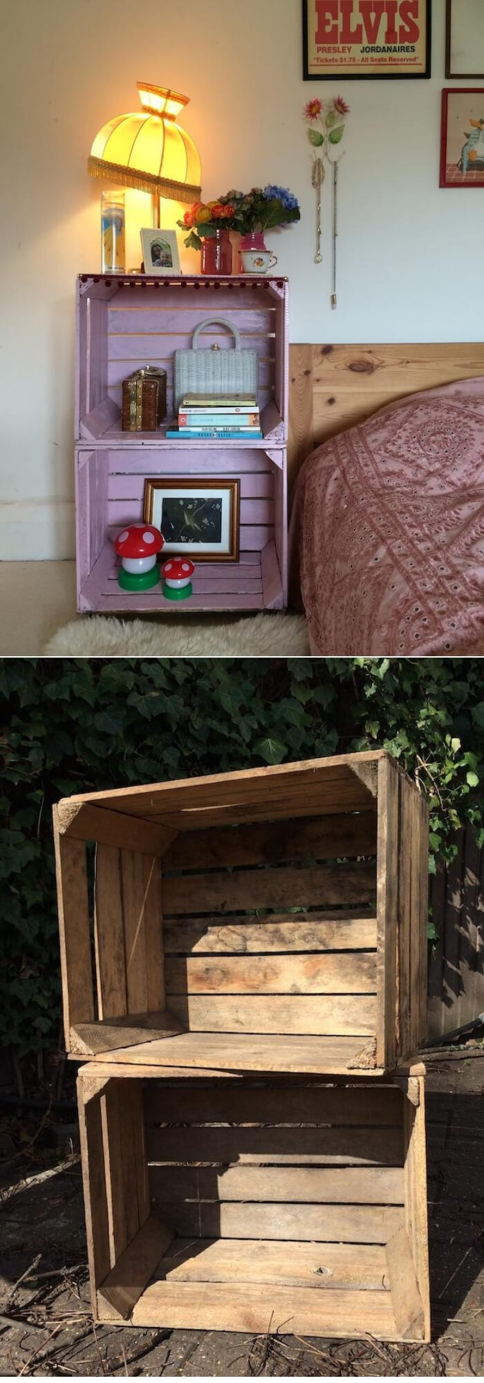DIY Nightstand | Best DIY Wood Crate Projects & Ideas