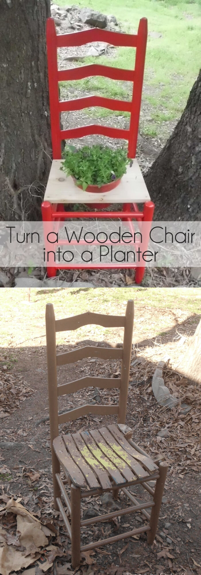 Turn a wooden chair into a planter   Creative Upcycled DIY Chair Planter Ideas For Your Garden