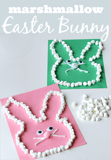 Marshmallow Easter Bunny Craft | Easy & Fun Easter Crafts For Kids