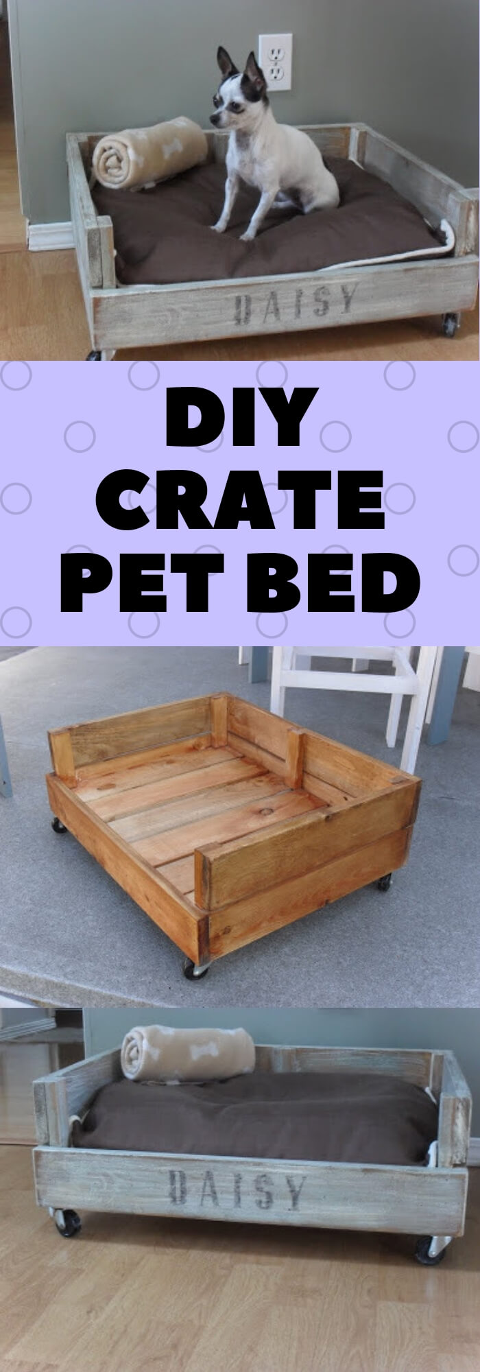 DIY Crate Pet bed | Best DIY Wood Crate Projects & Ideas