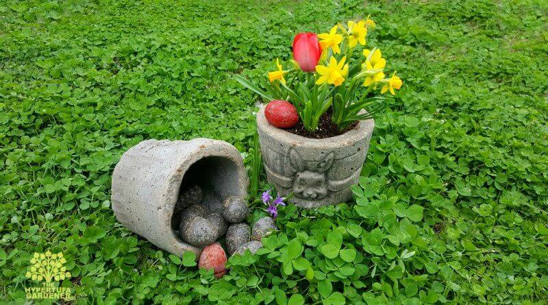 Hypertufa Easter Basket Planters   Creative Easter Garden Projects & Ideas Your Kids Will Love