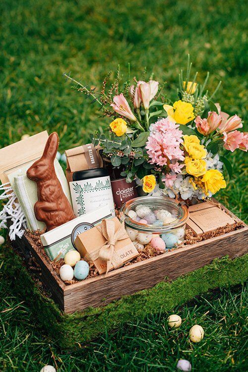 Wooden Easter Basket   Creative Easter Garden Projects & Ideas Your Kids Will Love