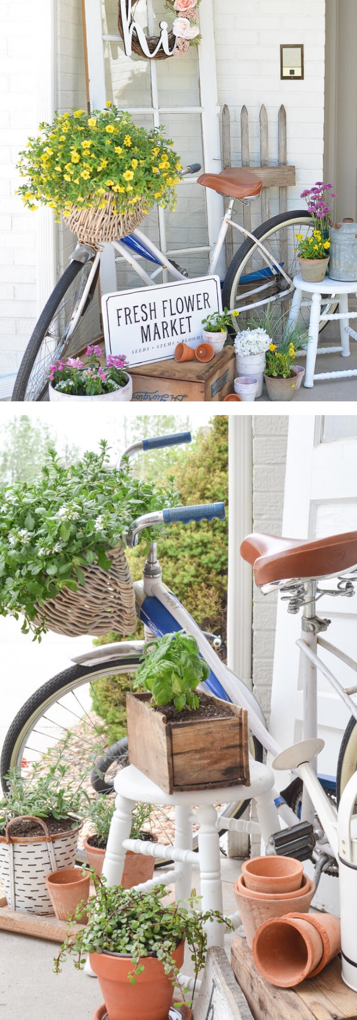 A vintage farmhouse style to welcome summer | Best Outdoor Wall Decor Ideas