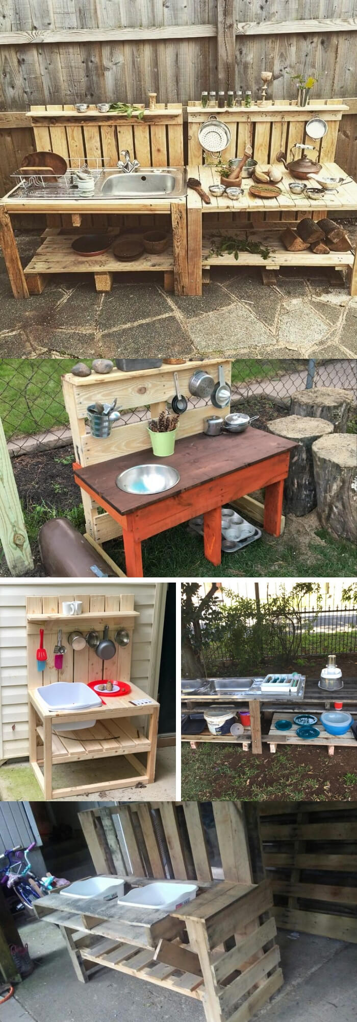 Mud Kitchens from Pallet Wood | DIY Outdoor Kitchen Ideas (Cheap, Simple, Modern, and Country)
