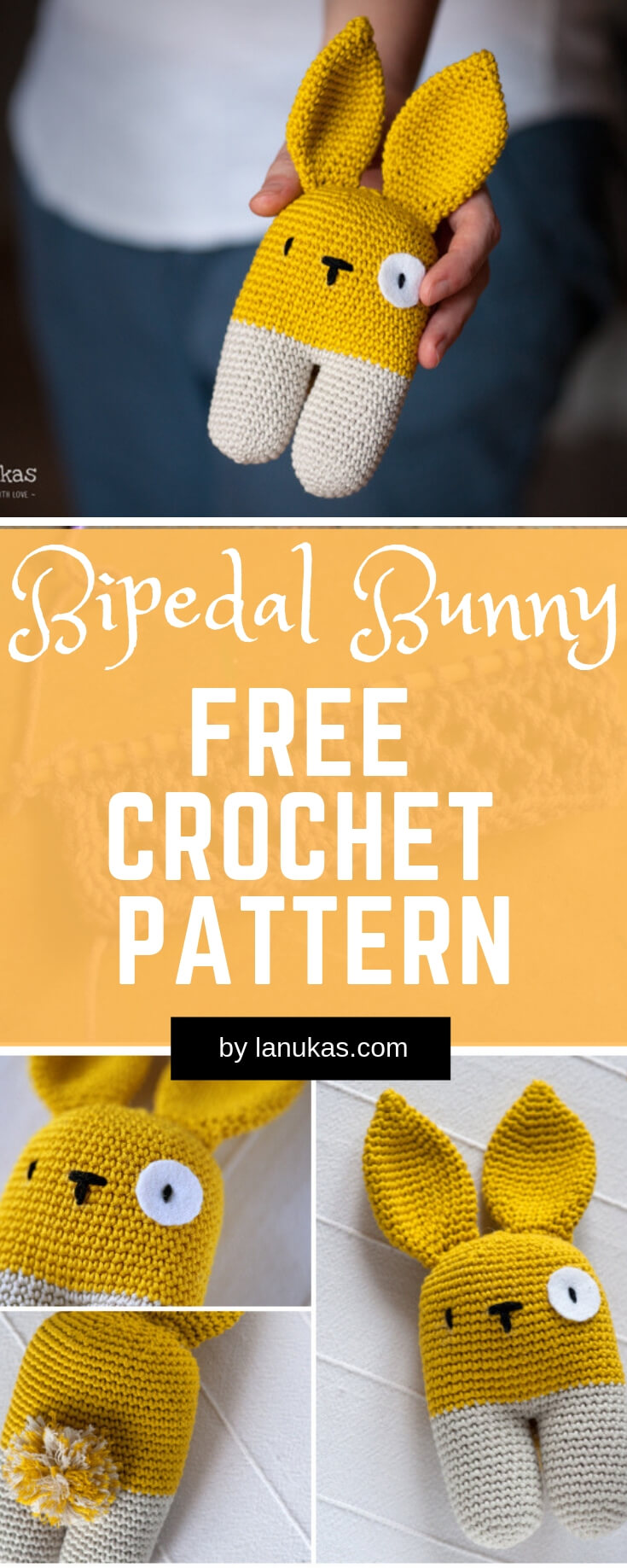 Bipedal bunny | Rattle Free Crochet Patterns For Baby