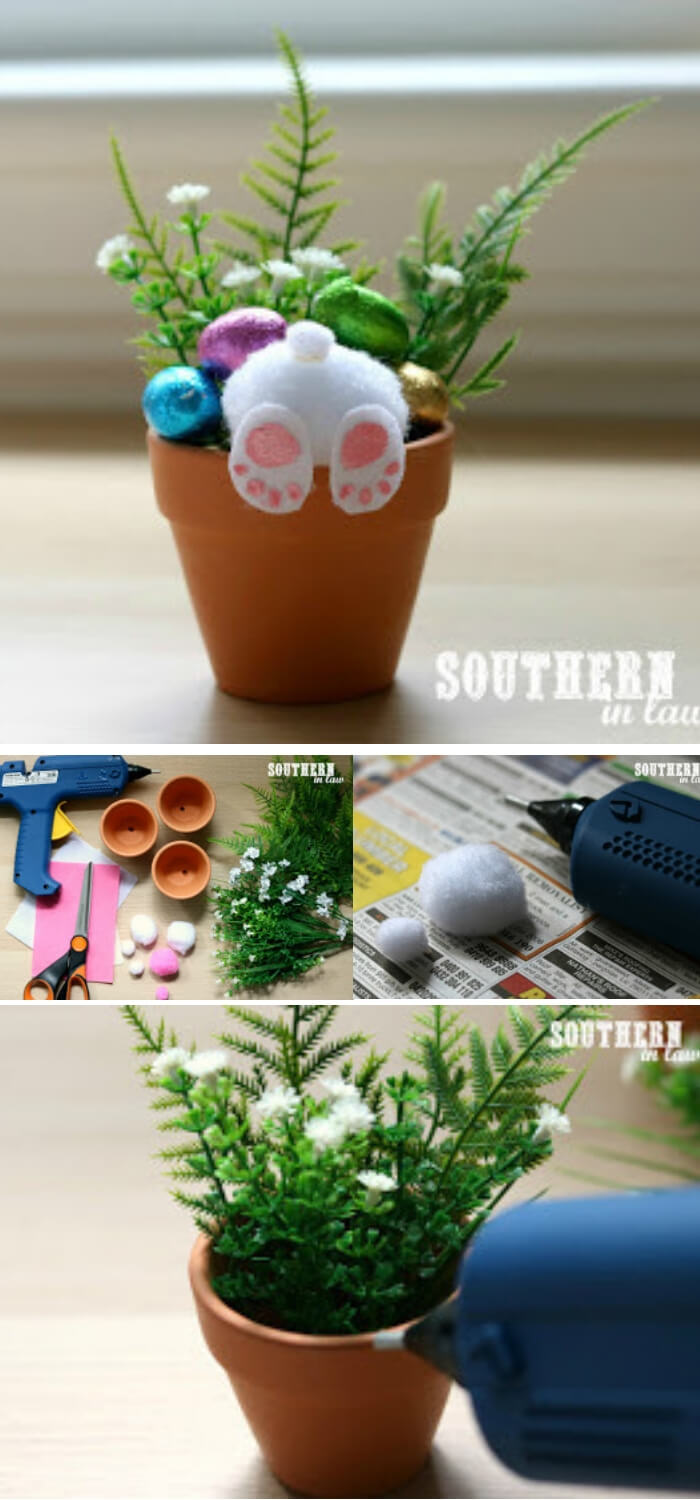 Easter Bunny Pots   Creative Easter Garden Projects & Ideas Your Kids Will Love