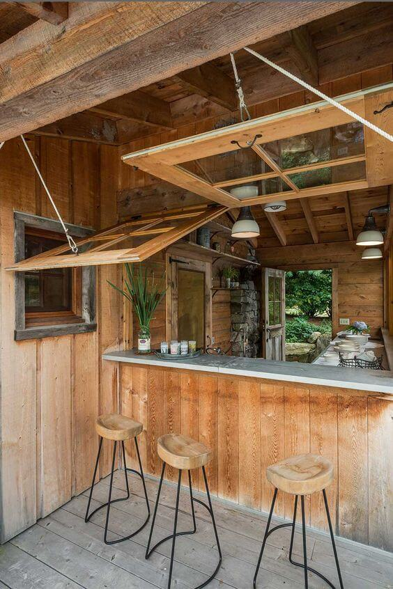 Rustic Kiosk Style | DIY Outdoor Kitchen Ideas (Cheap, Simple, Modern, and Country)