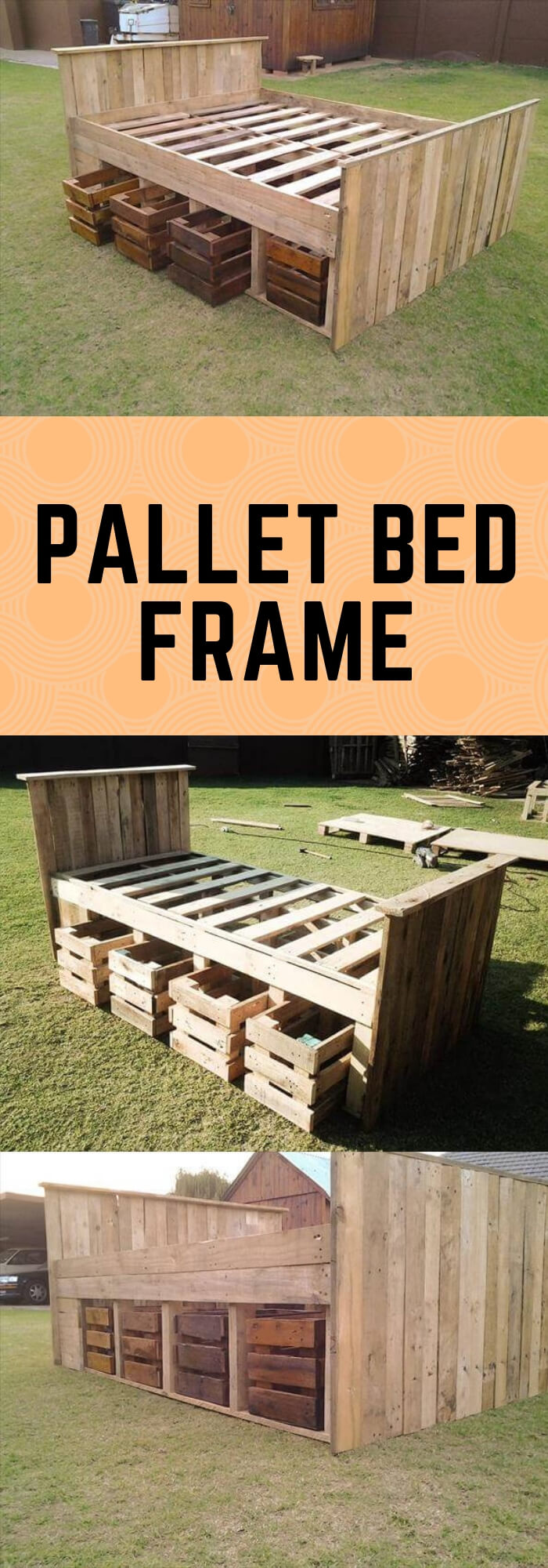 Crate Bedroom Storage | Best DIY Wood Crate Projects & Ideas