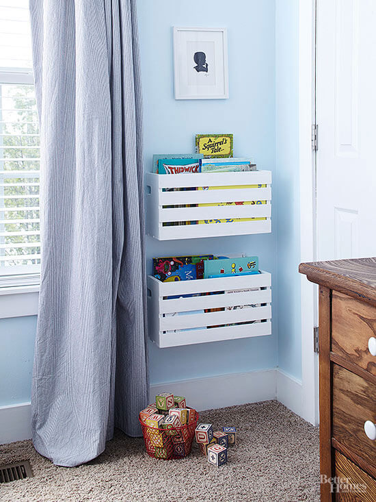 Bookshelves for Kid's room | Best DIY Wood Crate Projects & Ideas