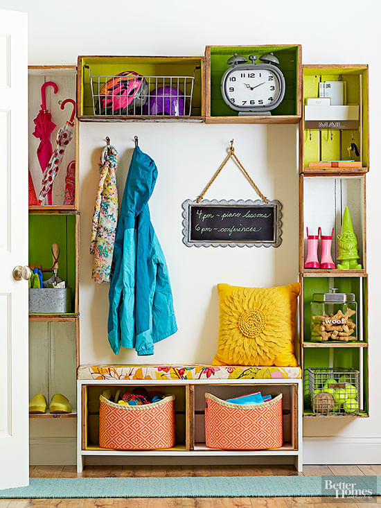 Entryway Storage | Best DIY Wood Crate Projects & Ideas