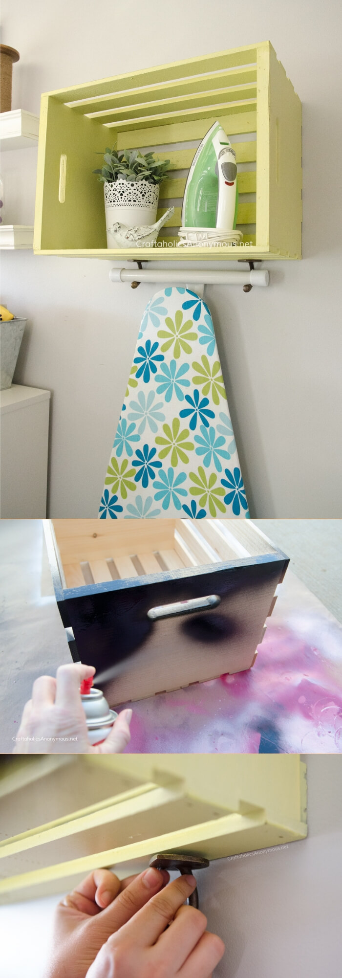 DIY Ironing Station | Best DIY Wood Crate Projects & Ideas