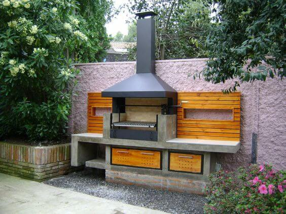 Kitchen Against the wall | DIY Outdoor Kitchen Ideas (Cheap, Simple, Modern, and Country)
