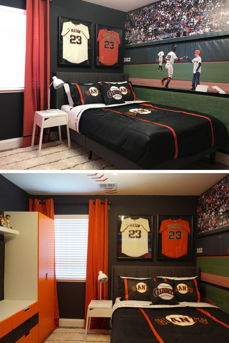 Sports Theme | Sf Giant | Cool Bedroom Ideas For Boys