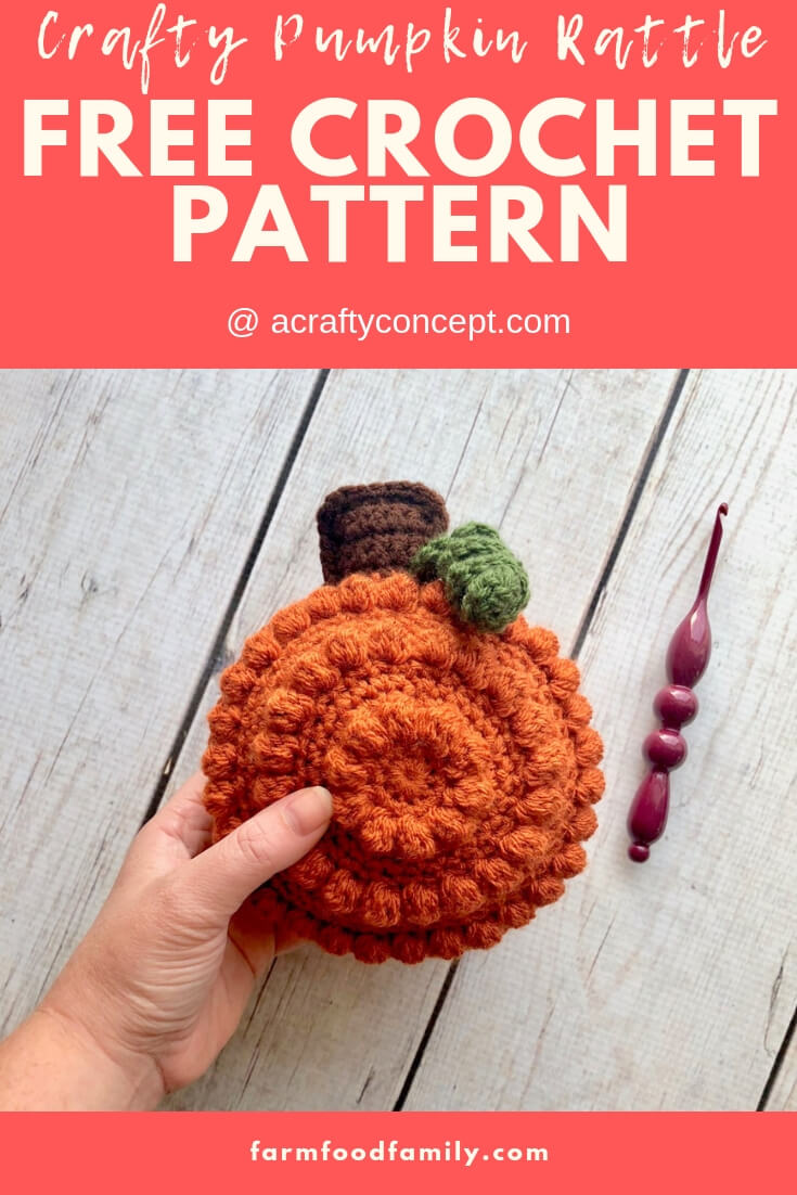 Crafty Pumpkin Rattle | Rattle Free Crochet Patterns For Baby
