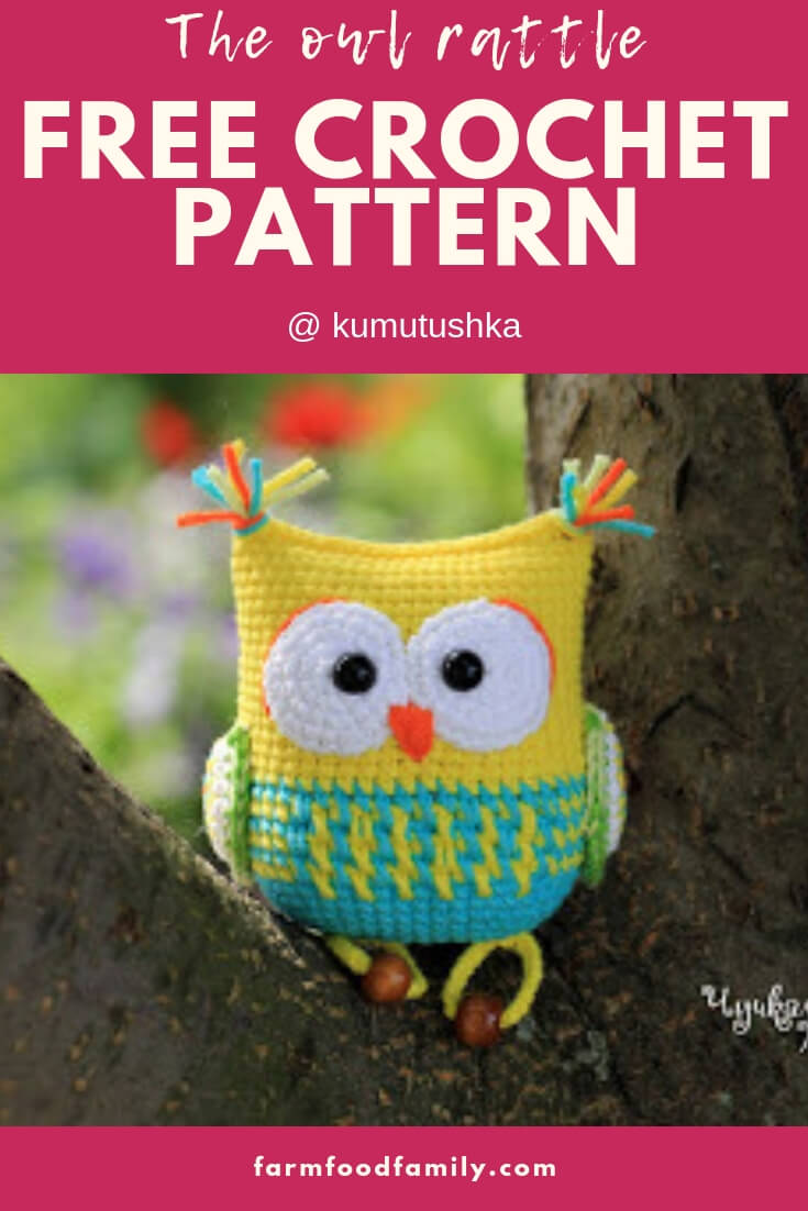 The owl Rattle | Rattle Free Crochet Patterns For Baby