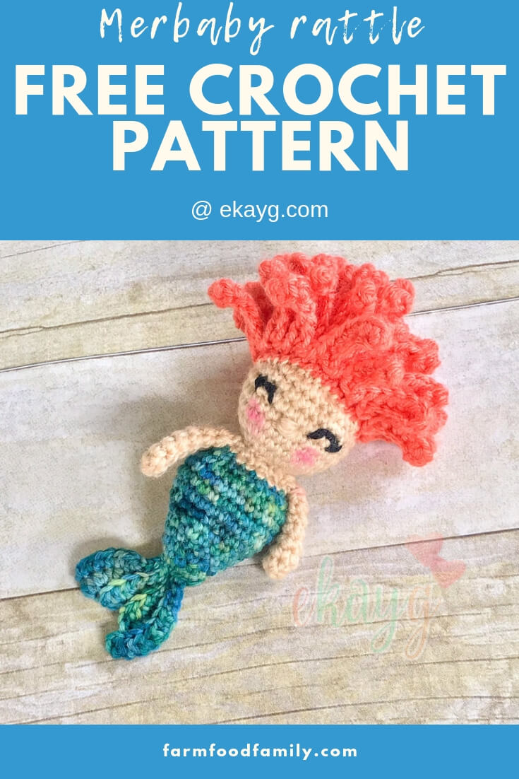 Merbaby Rattle | Rattle Free Crochet Patterns For Baby