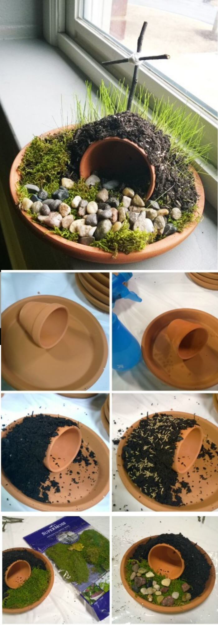 Resurrection garden for your kids   Creative Easter Garden Projects & Ideas Your Kids Will Love