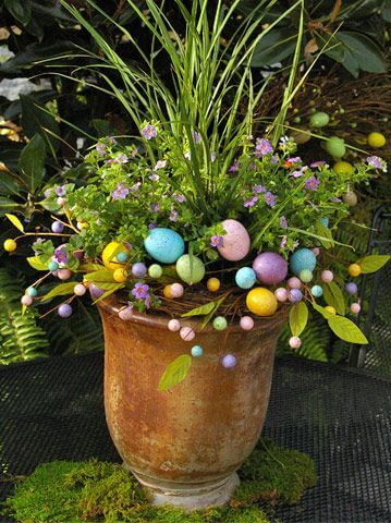 Easter Themed Container Garden   Creative Easter Garden Projects & Ideas Your Kids Will Love