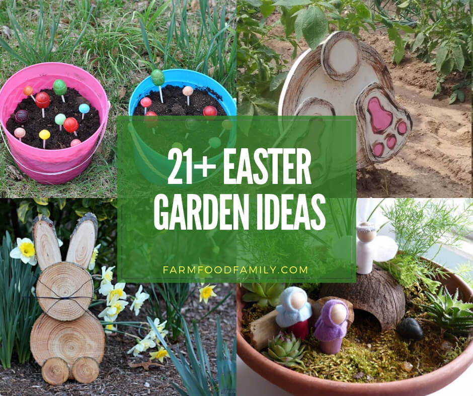 23 Best Cottage Kitchen Decorating Ideas And Designs For 2020: 23+ Creative Easter Garden Projects & Ideas Your Kids Will
