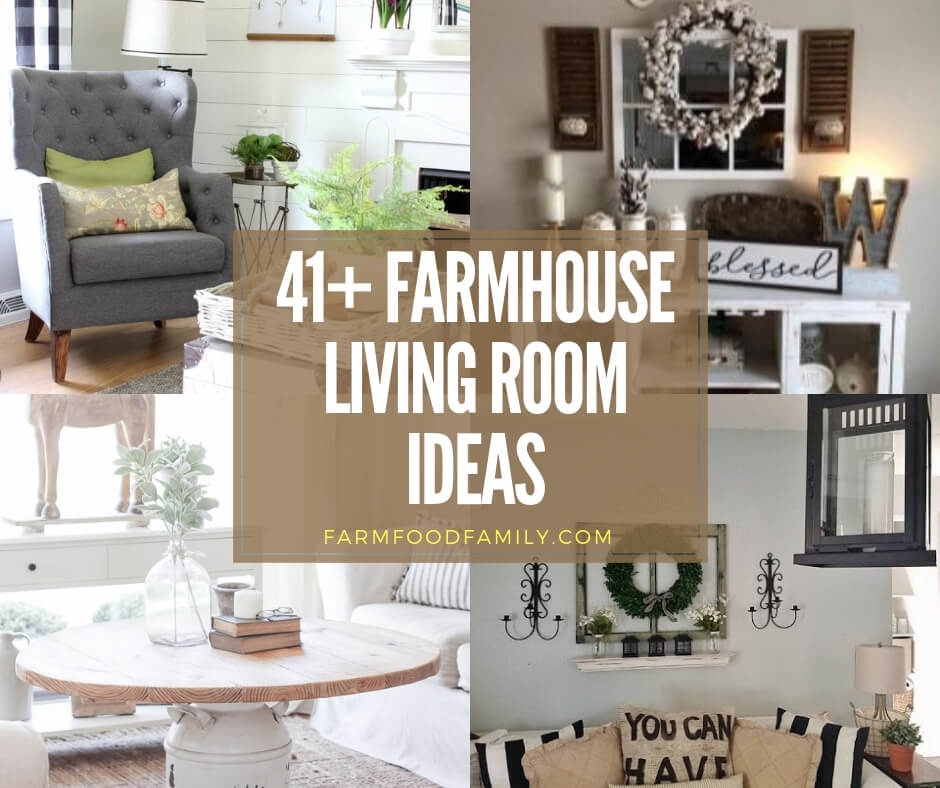 | Best Farmhouse Living Room Decor & Design Ideas