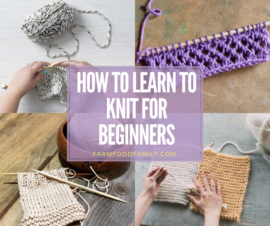 how to learn to knit for beginners