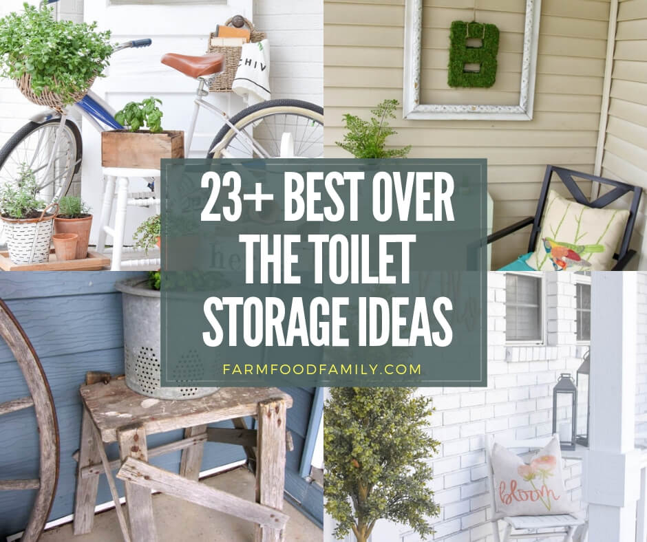 Best over the toilet storage ideas & projects