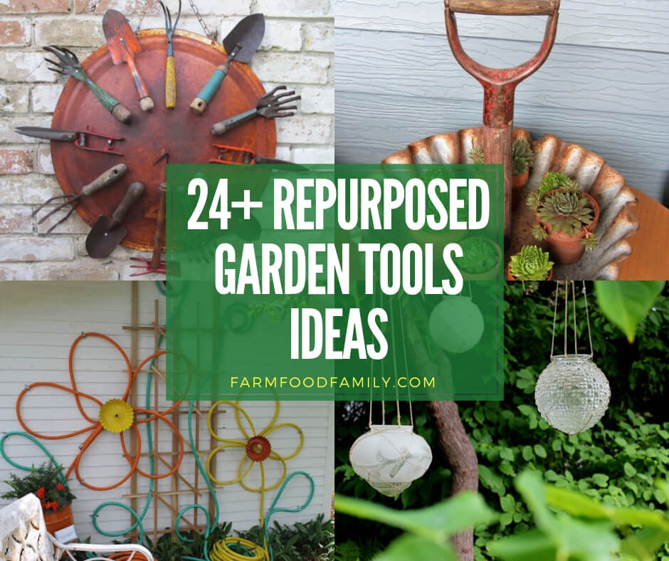 creative repurposed garden tools ideas