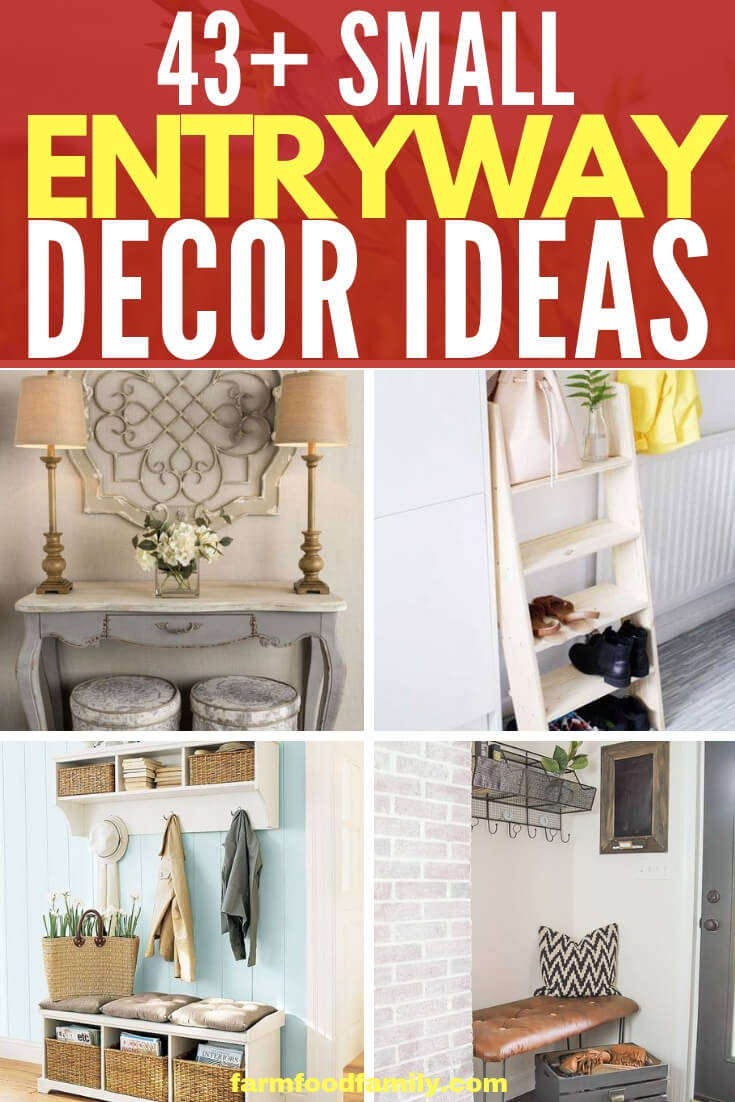 Best Small Entryway Decor & Design Ideas To Upgrade Space | Mudroom Ideas