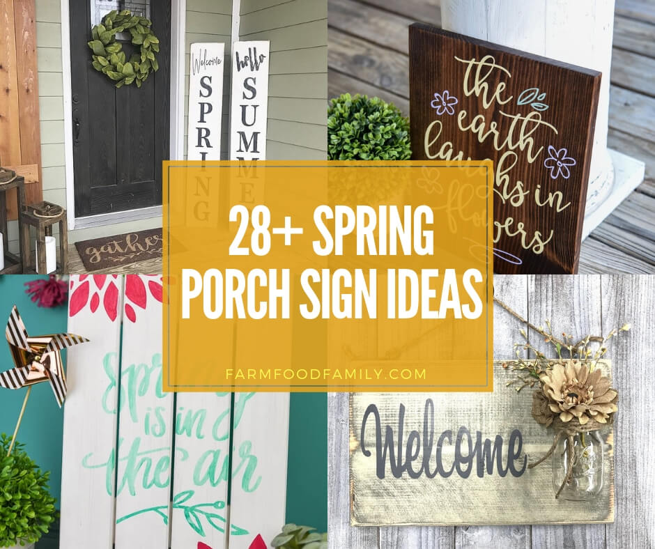 Best Spring Porch Sign Decor Ideas