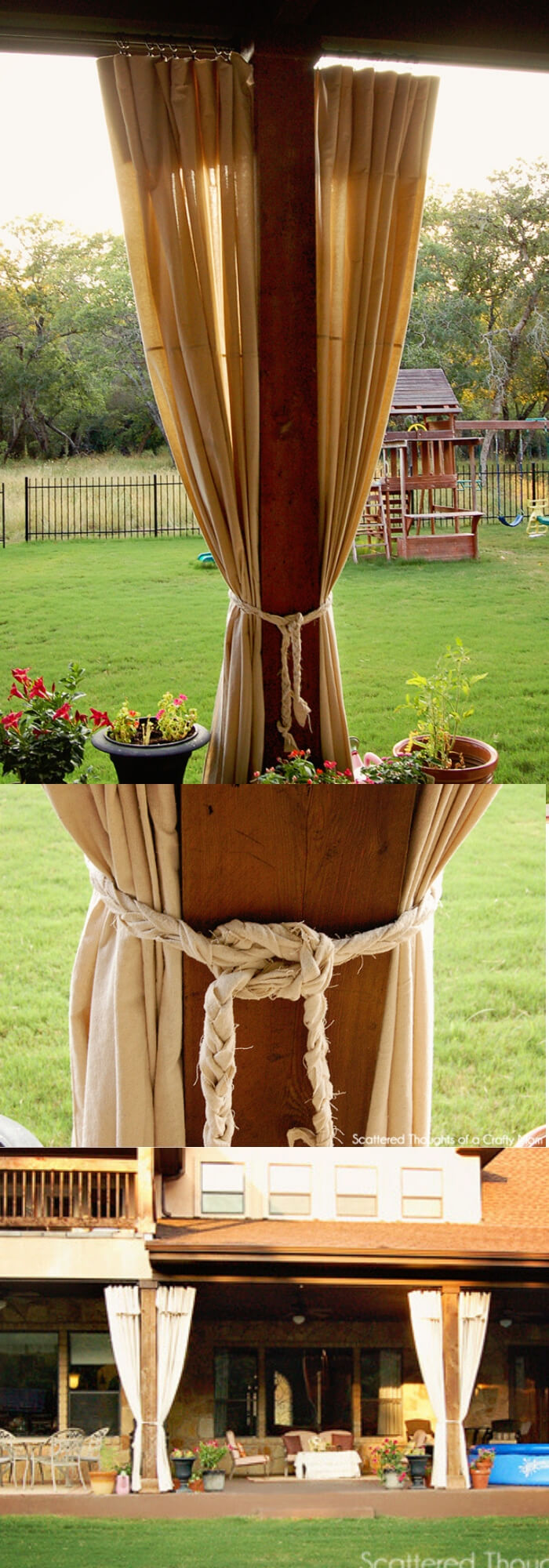 DIY Patio Curtains from Drop Cloths
