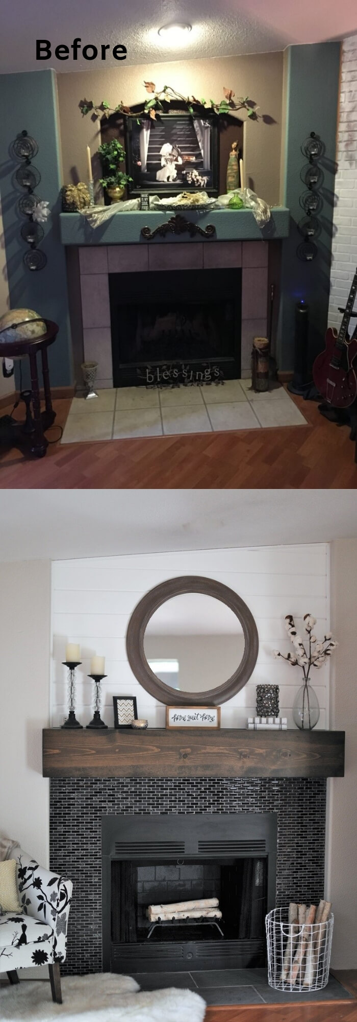 A Rustic Glam Fireplace Makeover