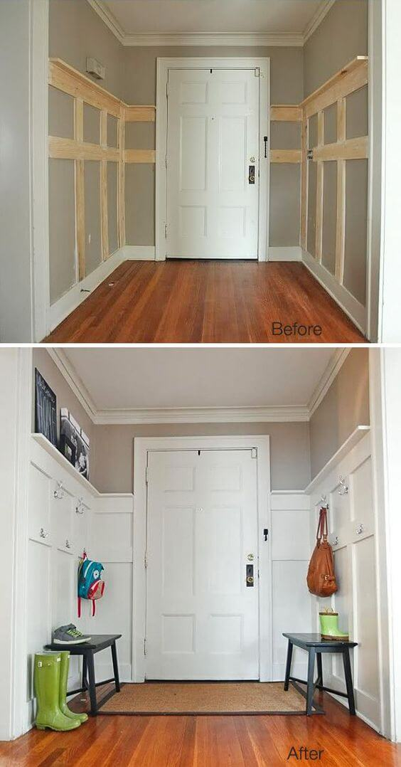 Sprucing up the back entrance | Amazing Wainscoting Ideas for Your New Home
