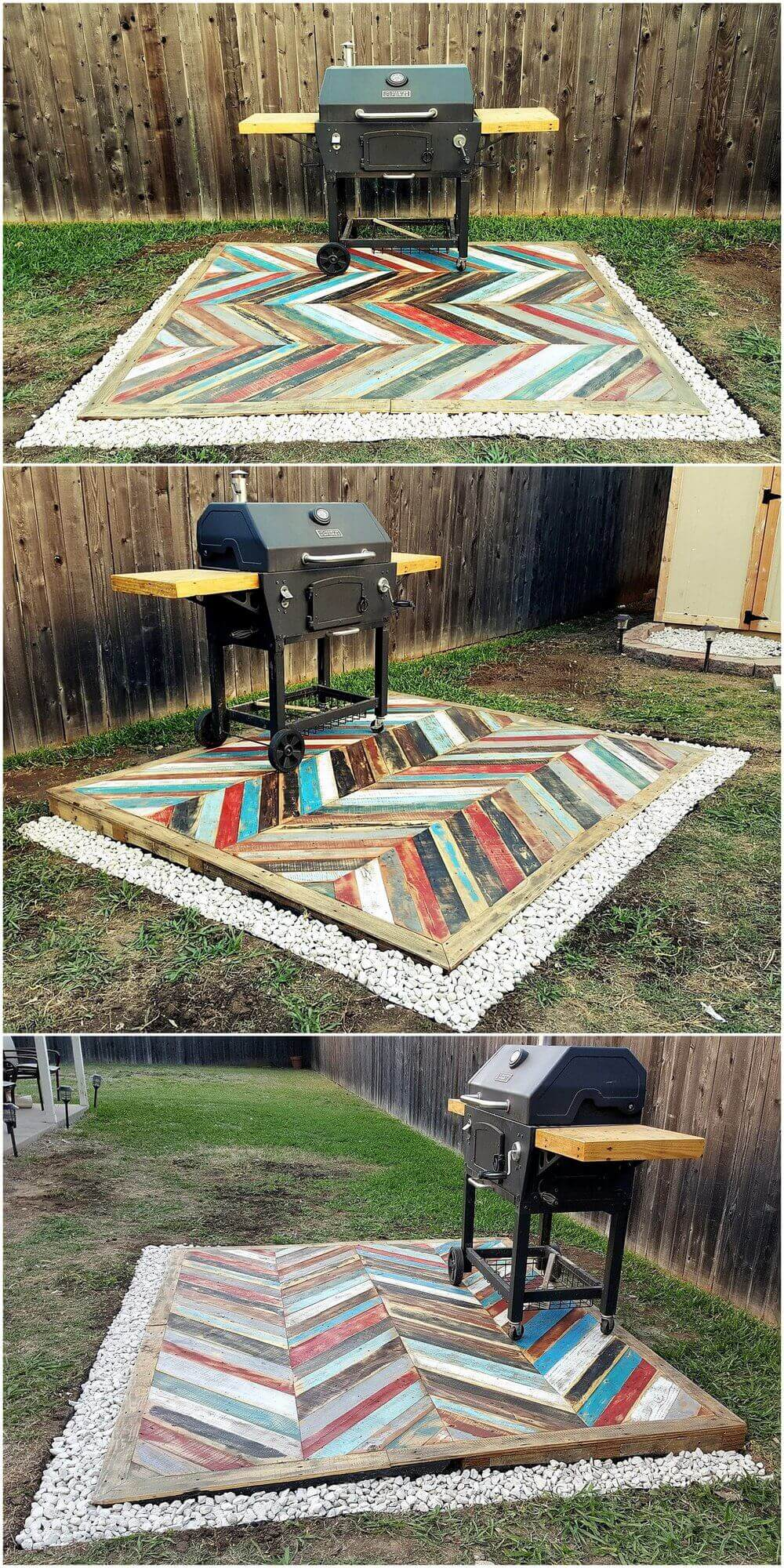 Recycled Pallets Wooden Garden Deck | DIY Backyard Projects For Summer | FarmFoodFamily