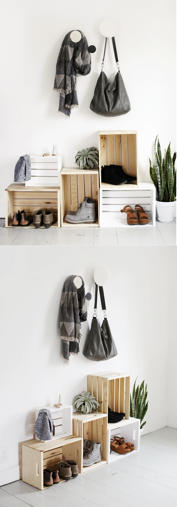 Wooden Crate Shoe Storage | Smart Shoe Storage Ideas & Designs For Any Zoom Size