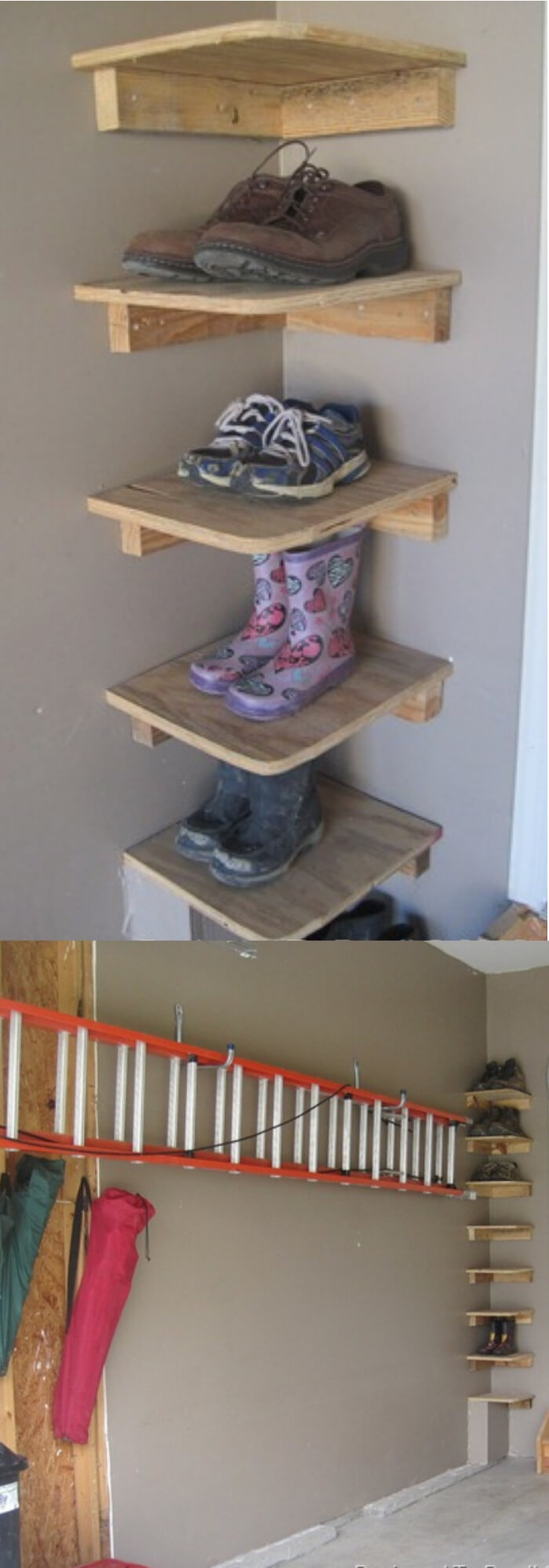 Shoe Shelves in garage | Smart Shoe Storage Ideas & Designs For Any Zoom Size