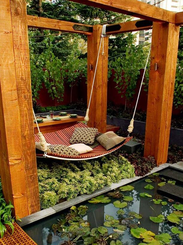 Build a giant hammock swing | DIY Backyard Projects For Summer | FarmFoodFamily