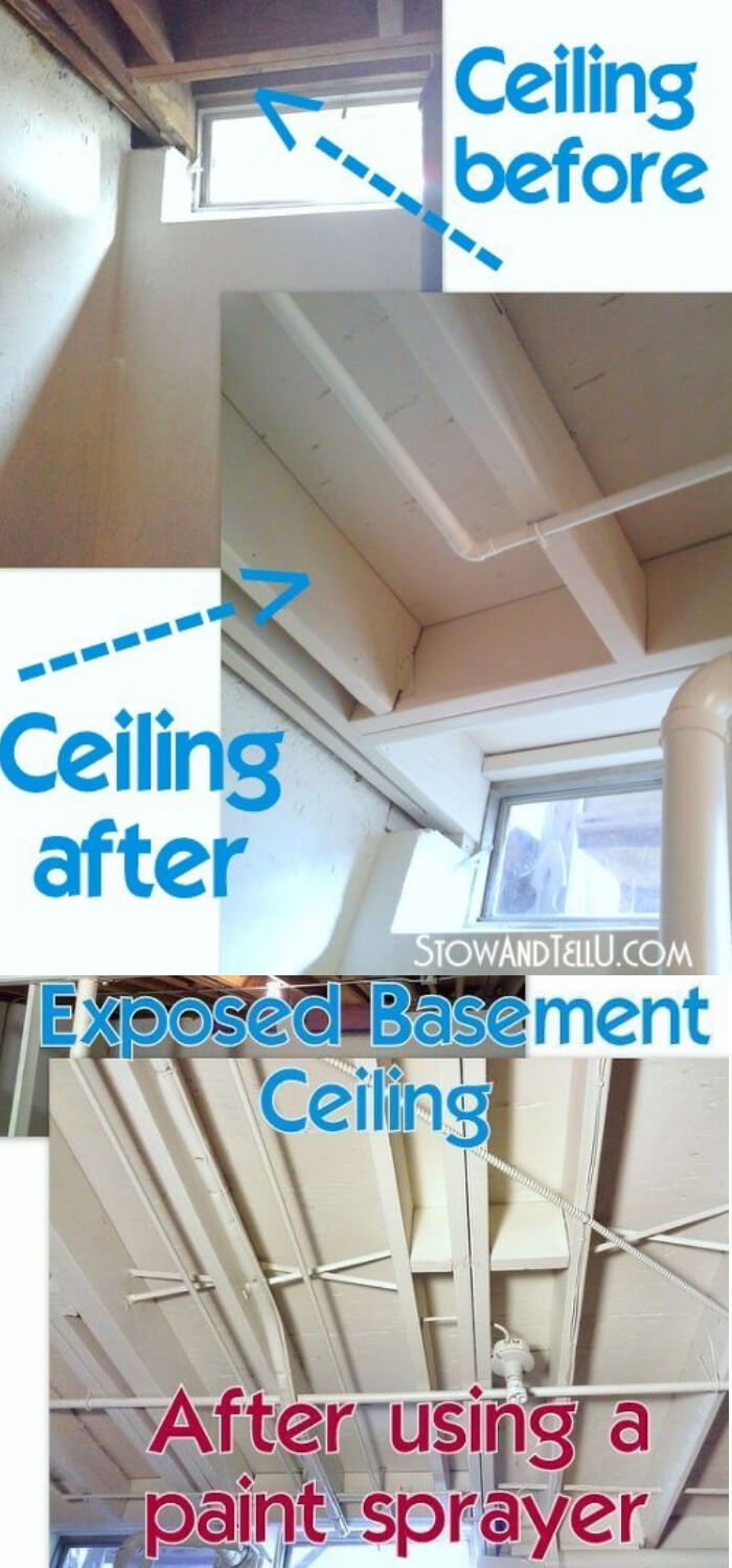 Tips for Painting an Exposed Basement Ceiling