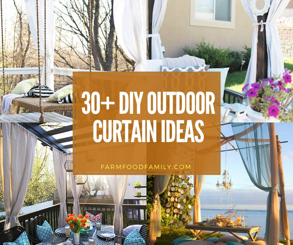best outdoor curtain ideas for summer