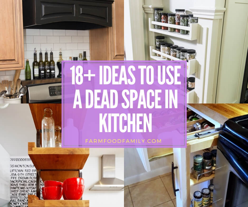 best kitchen hacks to use a narrow or dead space
